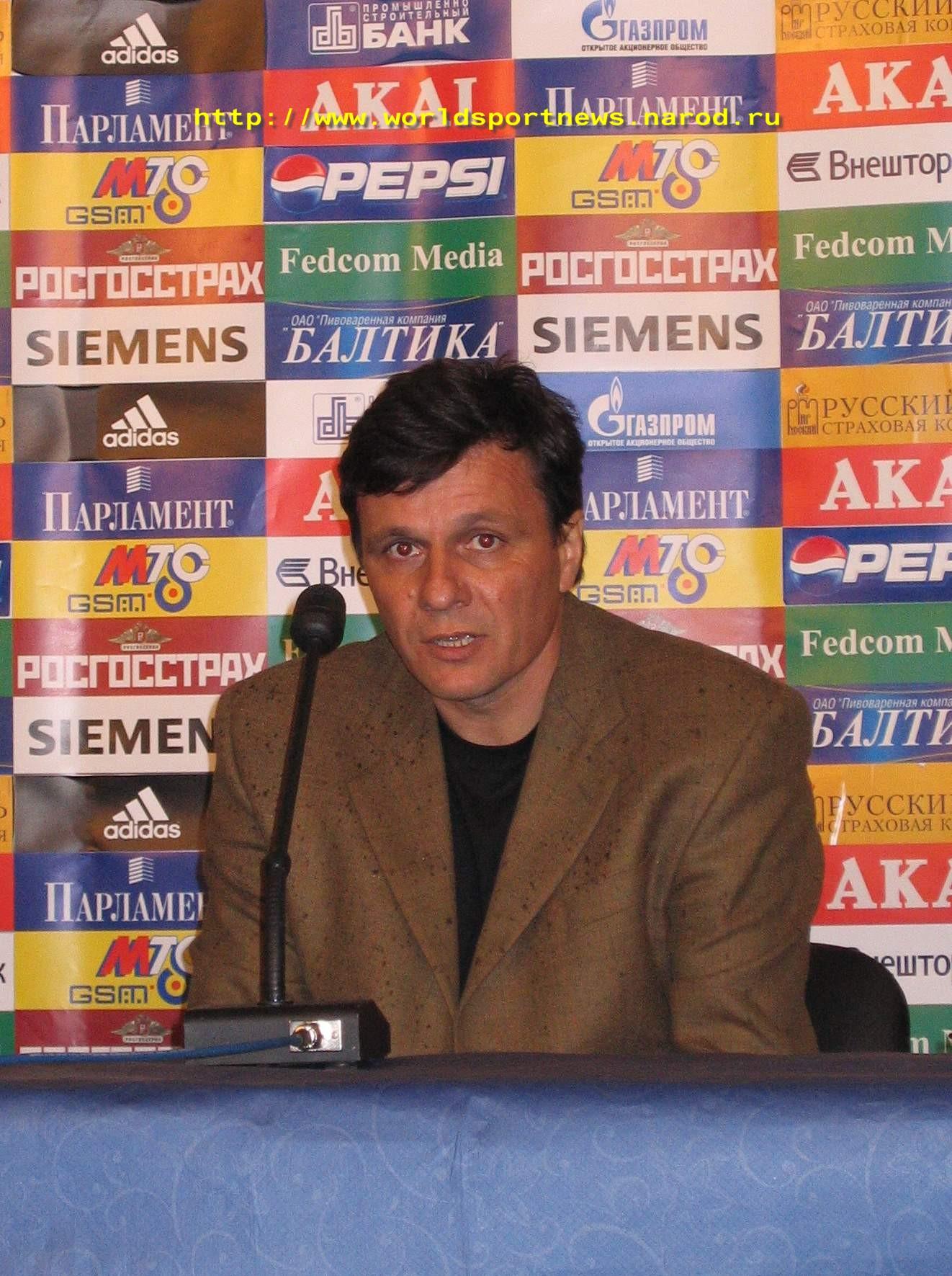 16 Мая 2005 Главный Тренер Команды «Динамо» Махачкала Г.Г.Гридин